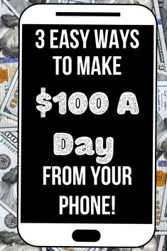 Do you want to make $100 a day with your smartphone? Then here is my list of 3 ways you can make money from your phone for free! That's right you need no money to start making money online. #makemoneyonline #makemoney #moneymakingapps Ways To Earn Money, Earn Money From Home, Make Money Blogging, Make Money Online, Saving Money, Make 100 A Day, Make Easy Money, How To Make, Perfect Image