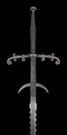 A Fine German Two-Hand Processional Sword Mid-Late Century Swords And Daggers, Knives And Swords, Saber Sword, Landsknecht, Medieval Weapons, Arm Armor, Fantasy Weapons, Cold Steel, Blacksmithing