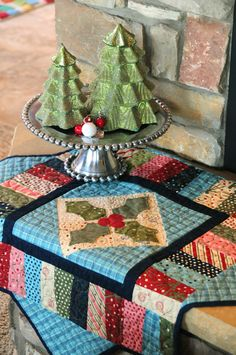 beautiful Christmas table topper