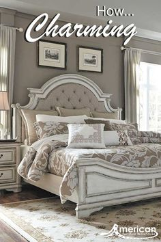 Your bedroom will love the Magnolia Manor Queen Bed by Liberty Furniture. Best selection in platform, poster & panel beds! Shop AFW online or in store. Bedroom Colors, Bedroom Sets, Home Bedroom, Bedroom Furniture, Home Furniture, Master Bedroom, King Furniture, King Bedroom, Furniture Online