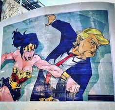 Wonder woman teaches the Trumpster some manners... if you want to see this go down, just invite Trump to the next Comicon Expo and l bet there are plenty of Cosplayer woman there who would love to make this happen SkullyBloodrider.