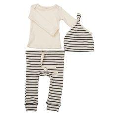 Striped Organic Cotton Layette Set / mabo children's clothier ($62.00) - Svpply