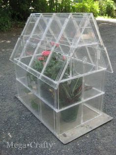 10 Creative Ways to Repurpose Your Old Tech Products --> Cd Case Greenhouse