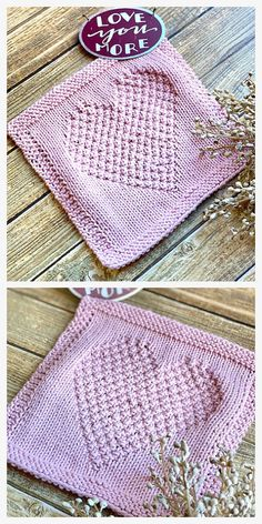 Knitted Squares Pattern, Knitted Dishcloth Patterns Free, Knitting Squares, Knitted Washcloths, Knit Dishcloth, Easy Knitting Patterns, Free Knitting, Crochet Patterns, Baby Blanket Knitting Pattern Free