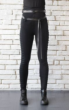 Modern Gothic Black Pants/Long Black by Metamorphoza on Etsy