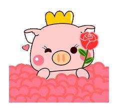 Funny Cartoon Gifs, Cute Cartoon Pictures, Cute Cartoon Wallpapers, Hug Gif, Cute Animal Quotes, Pig Drawing, Pig Illustration, Wonder Art, Cute Piggies