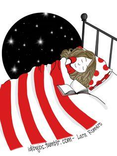 El placer de quedarte dormida leyendo.