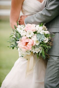 Get inspired by these 22 amazingly alluring wedding ideas from whimsical wedding cakes to stunning bouquets. Blush Wedding Flowers, Floral Wedding, Wedding Bouquets, Wedding Dresses, Blush Bouquet, Bridesmaid Bouquet, Mod Wedding, Dream Wedding, Wedding Art