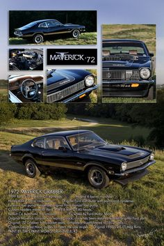 72 Maverick Grabber Show Poster, Picture Gold Cat? Retro Cars, Vintage Cars, Bicicletas Raleigh, New Car Accessories, Hot Rods, Ford Maverick, American Motors, Pony Car, Car Ford