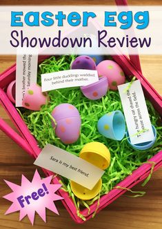 Easter Egg Showdown Review freebie from Laura Candler - Easily adapted to almost any content area!