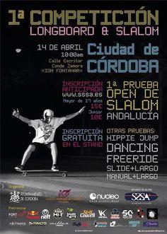 14 de abril OPen slalom + pruebas de longboard en Córdoba: http://www.40sk8.com/1-open-slalom-en-cordoba-y-otras-pruebas-de-longboard/