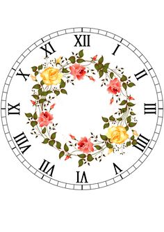 Decoupage Vintage, Decoupage Paper, Clock Face Printable, Clock Template, French Clock, Fancy Watches, Pendulum Wall Clock, Diy Clock, Feather Art