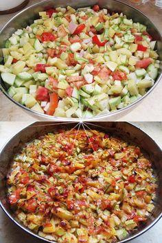 Veggie Dishes, Cookbook Recipes, Greek Recipes, Kids Meals, Cobb Salad, Vegetarian Recipes, Food And Drink, Veggies, Diet