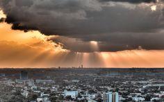 """""""Orange Rays"""". Miami, 2013. (Photo by lostINmia)"""