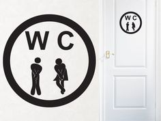 "Bathroom Decor - WC Sign ""Gotta Go"" -  Vinyl Wall Lettering. $12.00, via Etsy."