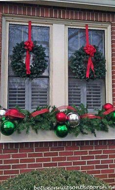 120 Christmas DIY Decorations Easy and Cheap Christmas Window Decorations, Chris… – Outdoor Christmas Lights House Decorations Christmas Window Boxes, Christmas Window Decorations, Outdoor Decorations, Outdoor Ideas, Christmas Window Lights, Christmas Wreaths For Windows, Xmas Trees, House Decorations, Winter Window Boxes