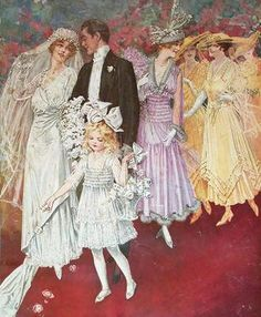 Vintage magazine cover and advertising art from the golden age of American illustration Vintage Wedding Photos, Vintage Bridal, Vintage Images, Vintage Weddings, Vintage Outfits, Vintage Fashion, Wedding Art, Mode Vintage, Magazine Art