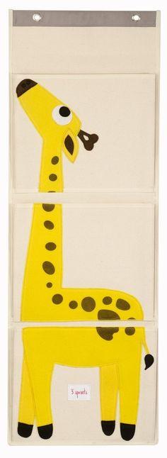 Giraffe Hanging Wall Organizer - perfect playroom decor