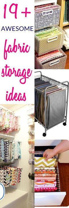 19+ AMAZING Fabric Storage Ideas for Sewing Rooms | fabric organization ideas