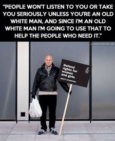 this old white man is with the program, too