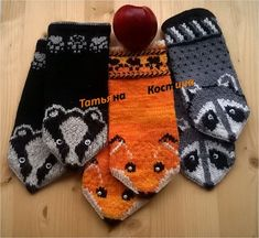 Knitted Mittens Pattern, Crochet Mittens, Crochet Fox, Knitted Gloves, Baby Knitting Patterns, Knitting Socks, Free Crochet, Hand Knitting, Crochet Hats