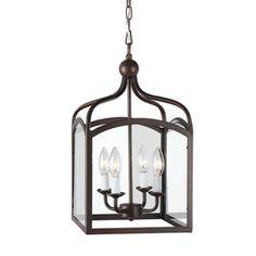 Ashley Bronze 4-light Foyer Hanging Lantern - Overstock™ Shopping - Great Deals on Otis Designs Chandeliers & Pendants