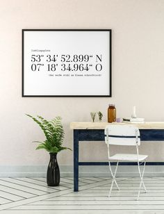 Poster coordinates favorite place – gift for moving in – coordinates picture customizable – GPS – coordinates poster – topping out gift – Kids Room 2020 Moving On Tattoos, Moving Boxes, Colourful Cushions, Hottest Photos, Kids Room, Room Decor, Etsy, Interior, Gifts