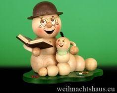 <!--11-->Räuchermann Räucherwurm Erzgebirge Opa mit Enkel