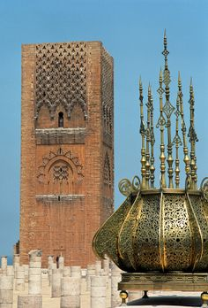 Hassan Tower is the minaret of an incomplete mosque in Rabat, Morocco, and at the time intended to be the world's largest.  After four years, construction on the new mosque ended, in 1199, and was never resumed.