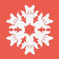 Cute little bat paper snowflake pattern for Halloween decor, banners, or spooky school festivities! Cut out on white printer paper or transfer the pattern onto colored paper to add a spooky touch. Paper Snowflake Template, Paper Snowflake Patterns, Snowflake Cutouts, Snowflakes Art, Origami Templates, Snowflake Designs, Box Templates, Halloween Crafts, Christmas Crafts