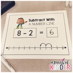 A Pinch of Kinder: Subtraction Centres - Subtract With a Number Line