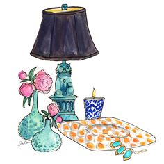 Inslee Haynes June Illustration for @Layla Grayce #laylagrayce #insleebydesign #lgblog