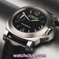 Panerai Luminor Marina 44mm Titanium - Box & Papers REF: PAM 00177 | Year Jan 2013 Under Panerai international guarantee until January 2015...seen as the 'classic' 44mm Panerai Luminor Marina, this titanium PAM 177 houses Panerai's chronometer rated manual wind OP XI movement with 56hr power reserve (visible through a sapphire caseback) - for sale at Watch Club, 28 Old Bond Street, Mayfair, London