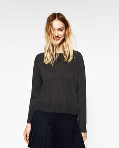 ZARA - COLLECTION SS/17 - SWEATER WITH SIDE SLITS