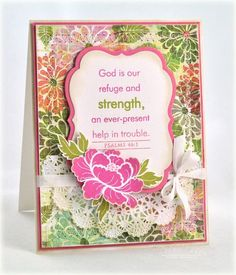 Encouragement Card by Debbie Olson for Papertrey Ink (May 2012)