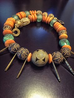 Earthen Mother Tribal African Necklace with by DivineEminence