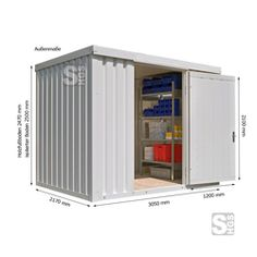 Materialcontainer -STIC 1300- mit Isolierung, ca. 6 m², wahlweise Holzfußboden oder isolierter Boden  #Lagerkontainer #Modulcontainer #Fachcontainer #Werkzeugkontainer #Baucontainer