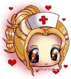 Lovely Nurse Chibi Blinkie by Kaleidoscope-Crystal.deviantart.com on @deviantART
