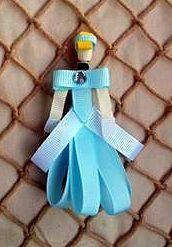 Cinderella Sculpted Hair Bow Hair Clip  by sotweetbowtique on Etsy, $6.00