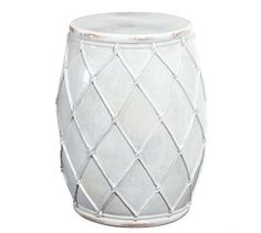 Net Ceramic Stool #potterybarn......interesting accent table