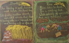 Third grade chalk board