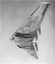 Northrop's WWII era experimental flying wing, the XB-35. It was the sister-aircraft to the YB-35 which was powered by jet engines.