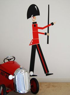 marching soldier wall sticker by baby space interiors, via Flickr