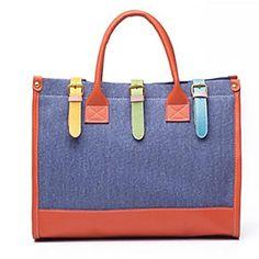 lienzo diseño casual gran bolso del hombro del monedero del bolso de la mujer - EUR € 13.92