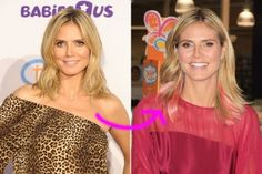 incredible: Heidi Klum with pink hair extensions