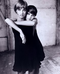 Linda Evangelista & Stella Tennant for Vogue Italia, September 1993.  Photographed by Steven Meisel.