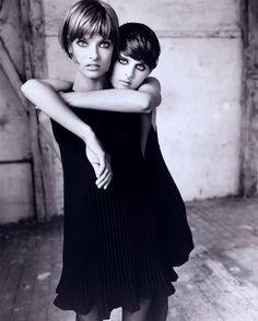 Linda Evangelista & Stella Tennant for Vogue Italia, September 1993.  Photographed by Steven Meisel.
