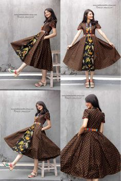 batik amarillis's romana dress-PO (excluded obi belt) - - batik amarillis's romana dress-PO (excluded obi belt) Source by Long Dress Fashion, Skirt Fashion, Fashion Dresses, Trendy Dresses, Nice Dresses, Casual Dresses, Model Dress Batik, Modern Batik Dress, Dress Batik Kombinasi