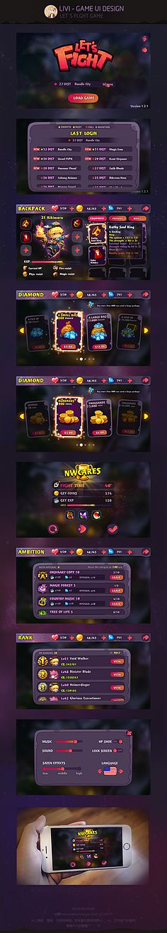 Small busy Ekii game Ui network for trainees Livi . Game Design, Bg Design, Gui Interface, User Interface Design, Game Gui, Game Icon, Ui Design Inspiration, Game Concept, Game Assets