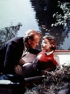 """Love In The Afternoon"" Gary Cooper and Audrey Hepburn"